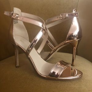 Nine West Rose Gold Mydebut Open Toe Sandals